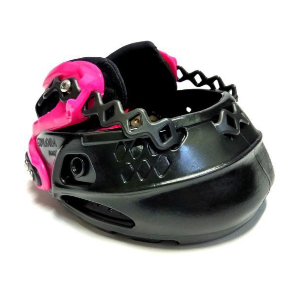 Bota Explora Boot negra rosa vista frente y lateral