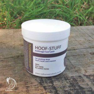 Hoof Stuff. Antifungal hoof pack for treatment of frog infections of horse hoof