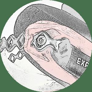 Anclaje de tira a tornillo - ajuste Explora Boot